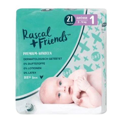 Rascal+Friends Windeln Grösse 1, 3-5 kg, 21 St