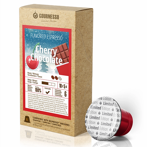 Nespresso® kompatible kompostierbare Kapsel GOURMESSO Cherry Chocolate