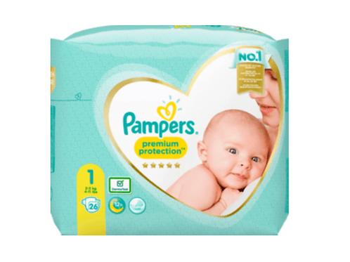 PAMPERS Premium Protection, New Baby Gr.1 Newborn, 2-5kg, Einzelpack, 26 St