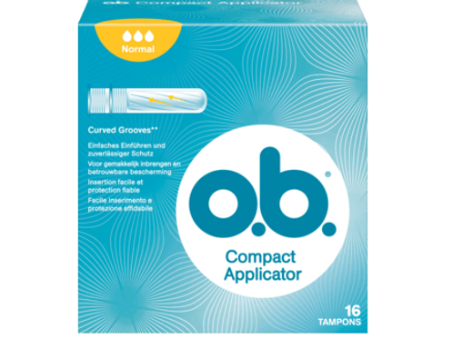 o.b. Tampons Compact Applicator Normal, 16 St