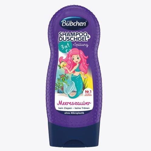 Bübchen Kids Shampoo & Shower & Spülung 3in1 Meereszauber, 230 ml
