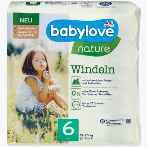 Babylove Nature-Windeln Nummer 6 XXL Biovlies 15-20 Kg 27 Stk.