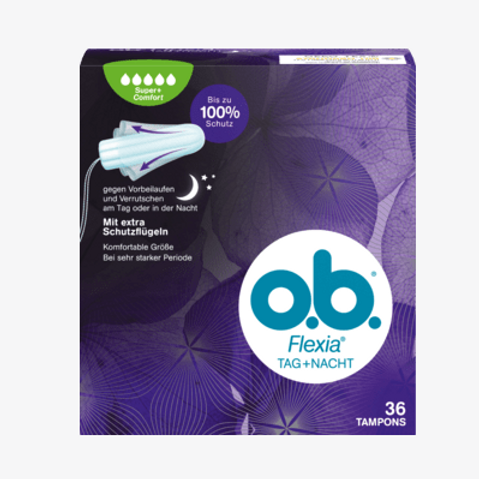 o.b. Tampons Tampons Flexia Tag und Nacht Super Plus, 36 St