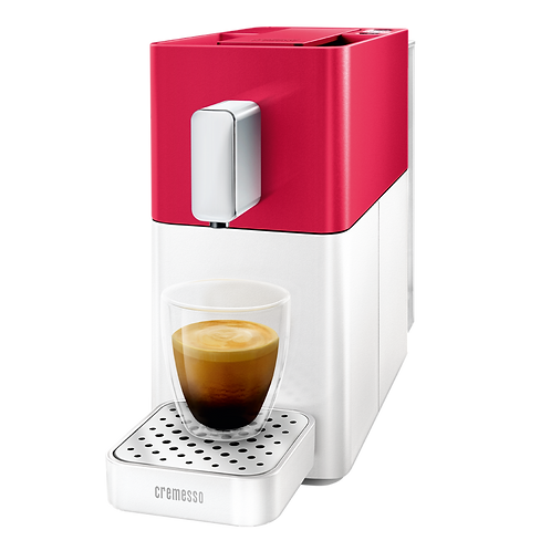 Kaffeemaschine System *DELIZIO* Modell Easy in Heart Red / Shell White