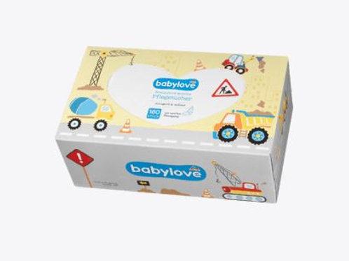 Babylove Papier Pflegetücher, 180 St. extra gross und Reissfest
