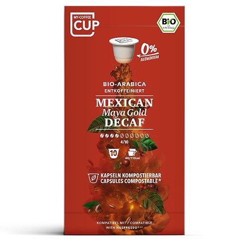 Nespresso® kompatible Kaffeekapseln MY-Coffeecup MEXICAN MAYA GOLD DECAF