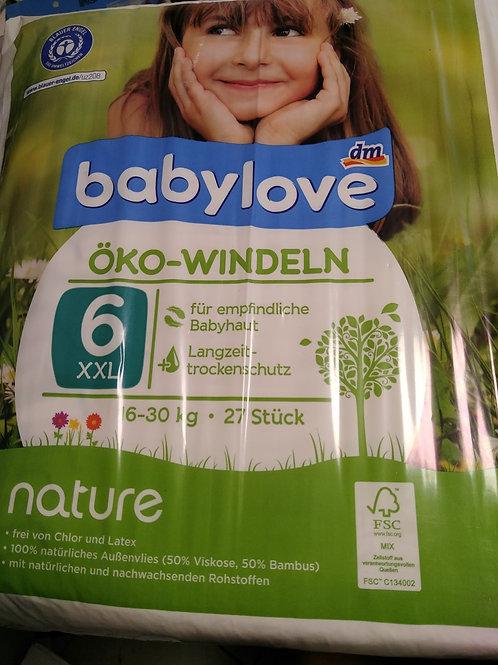 Babylove Öko-Windeln Nummer 6 für sensible Haut 16-30 Kg 27 Stk.