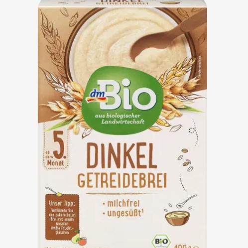 DM BIO Dinkel Getreidebrei nach dem 5. Monat, 2x200g, 400 g