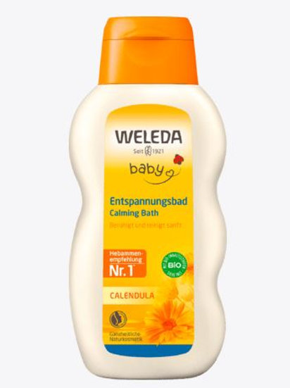Weleda Badezusatz Baby Calendula Entspannungsbad, 200 ml