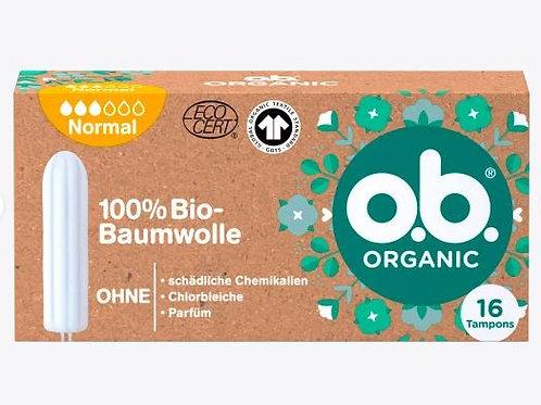 o.b. Tampons Organic Normal, 16 St