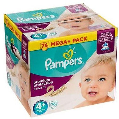 Pampers Premium Protection Active Fit Grösse 4+ Maxi Plus, 9-18 kg, Mega+ Pack,