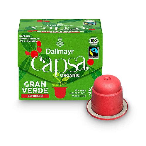 Nespresso® kompatible Kapsel Capsa von Dallmayr Gran Verde Espresso Bio