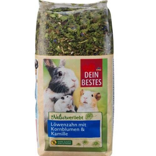 Snack für Nager & Zwergkaninchen, Naturverliebt, Löwenzahn mit Kornblumen und Ka
