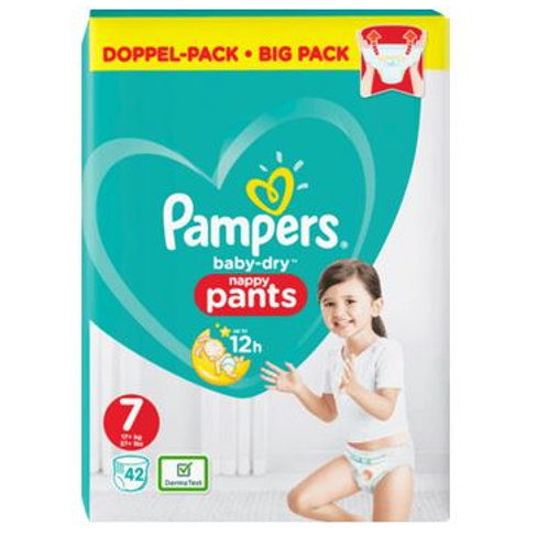 Pampers Baby-Dry Nappy Pants 7 Doppel- Pack mit 42St. Inhalt