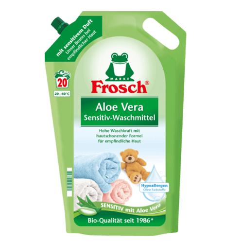 Frosch Sensitivwaschmittel flüssig Aloe Vera, 20 Wl Nachfüllpackung