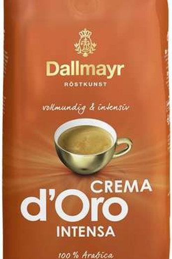 Ganze Kaffeebohnen Dallmayr Crema d'Oro Intensa 1kg vollmundig und intensiv