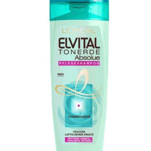 L'Oreal Elvital Shampoo Tonerde für normales bis fettiges Haar, 250 ml