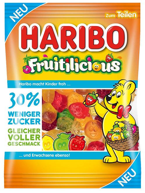 Haribo Fruitilicious mit 30% weniger Zucker, Beutel 160 gramm