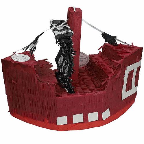 Piñata Piratenschiff aus Karton zum befüllen