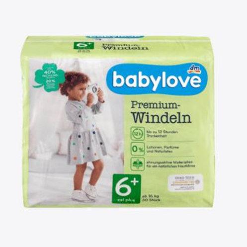 Babylove Premium-Windeln Gr. 6+ XXL Plus ab 16 Kg 30 Stk.