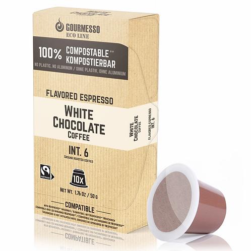 Nespresso® kompatible kompostierbare Kapsel GOURMESSO White Chocolate