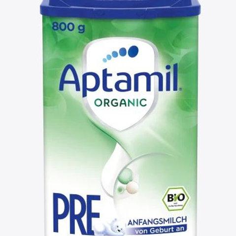 Aptamil Anfangsmilch Organic Pre von Geburt an, 800 g