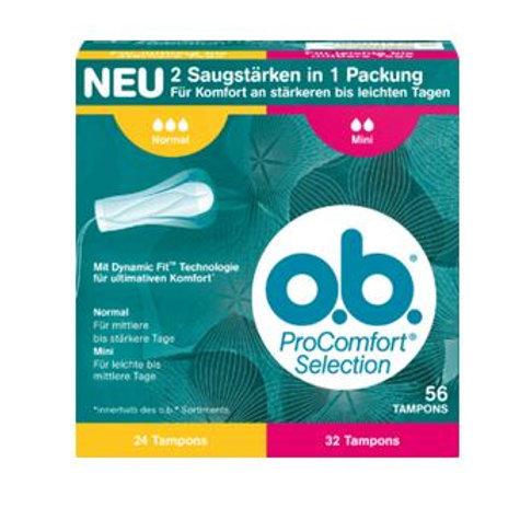 o.b. Tampon ProComfort Selection Normal Mini, 56 St