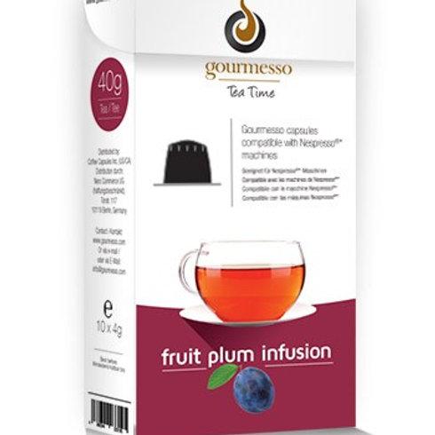 Nespresso® kompatible Kapsel von GOURMESSO Fruit Plum Infusion Teekapseln