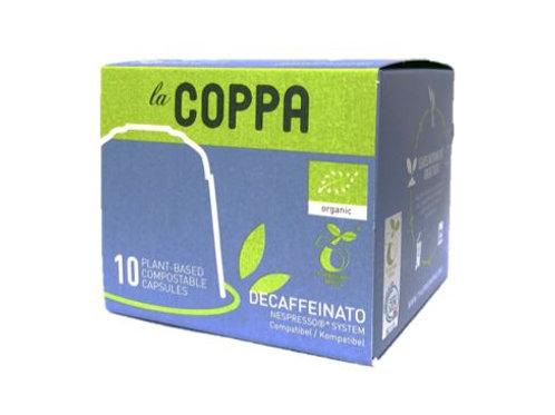 NESPRESSO® kompatible Kapsel la COPPA DECAFFEINATO  BIO (Kompostierbar)
