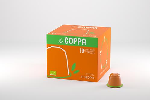 NESPRESSO® Kompatible Kapsel la COPPA ETHIOPIA BIO (Kompostierbar)