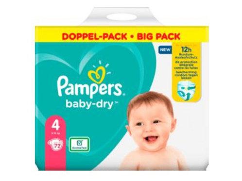 Windeln Pampers Baby Dry Grösse 4 Maxi, 9-14kg, Doppelpack, 72 St