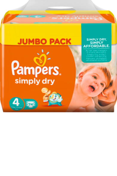 Pampers Simply Dry 4 Maxi