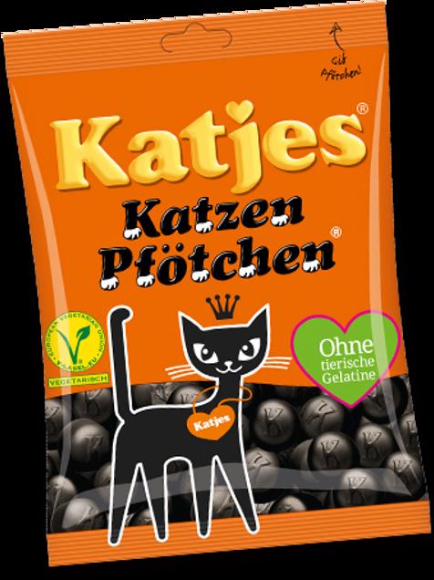 Katjes Katzenpfötchen Lakritz, Beutel 200 gramm