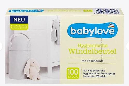 Babylove Windelbeutel mit Frischeduft 100 Stk.