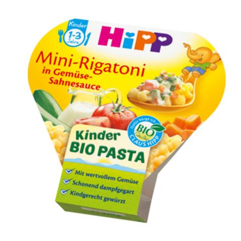 Hipp Bio Kinderteller Kinder Bio Pasta Mini-Rigatoni in Gemüse-Sahnesauce