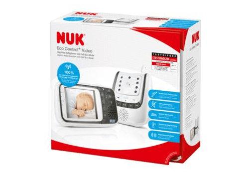NUK Babyphone Eco Control plus Video, 1 St