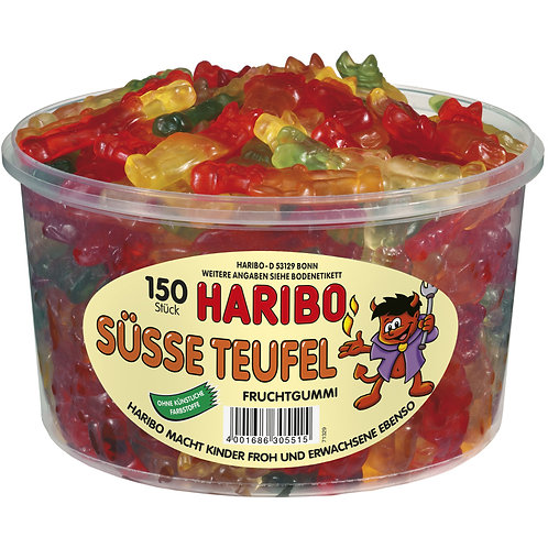 HARIBO Süsse Teufel, Dose mit 150 Stk
