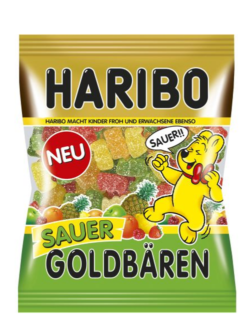 HARIBO Goldbären Sauer, Beutel 200 gramm