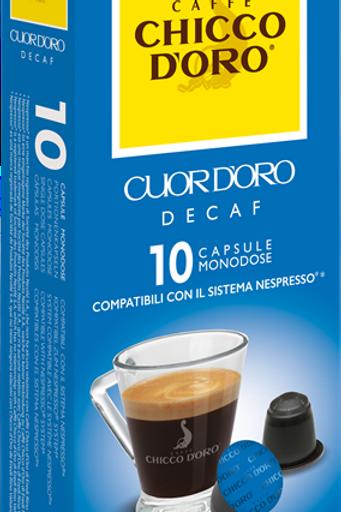 NESPRESSO® Kompatible Kaffeekapseln Chicco D'Oro Decaffeinato