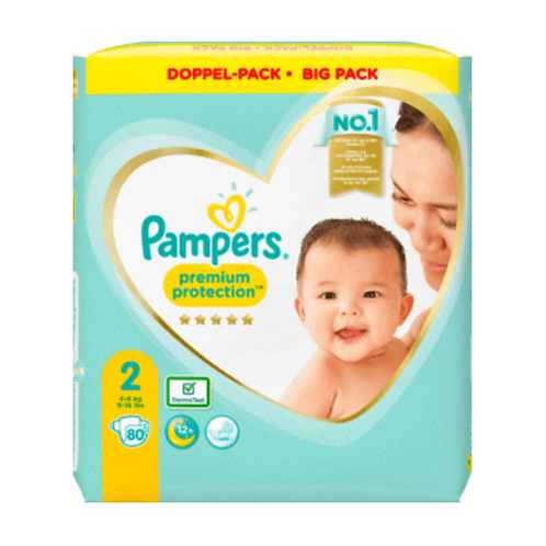PAMPERS Premium Protection, New Baby Size 2 Mini, 4-8kg double pack, 80 pcs