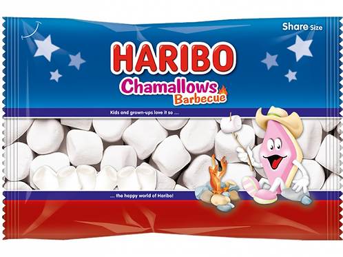 Haribo Chamallows Barbecue, Beutel 300 gramm (Marshmallow)