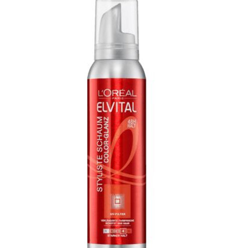 L'Oreal Elvital Schaumfestiger Styliste Color-Glanz, 150 ml