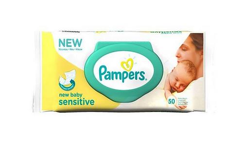 Pampers New Baby Sensitive Feuchttücher 1 Pack a 50 Tücher wiederverschlie