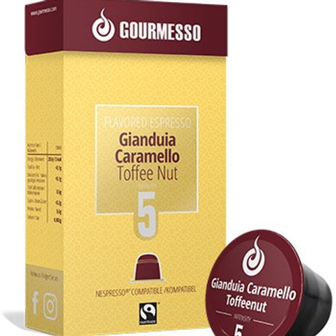 Nespresso® kompatible Kapsel v. GOURMESSO FLAVORED ESPRESSO GIANDUIA Kaffeekapse