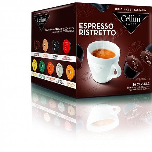 Dolce Gusto kompatible Kaffeekapsel Cellini Espresso RISTRETTO