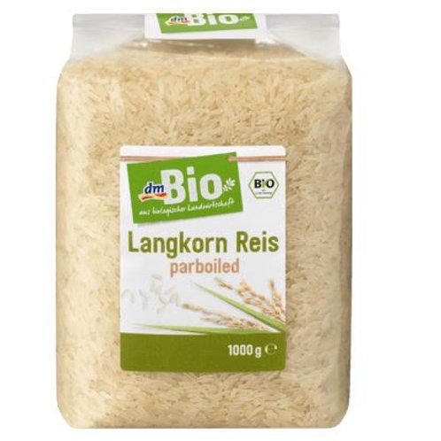 dmBio Langkorn-Reis parboiled, 1 kg