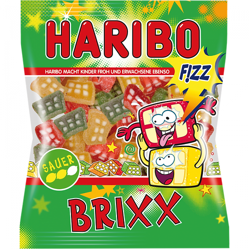 Haribo BRIXX Fizz Sauer, Beutel 200g