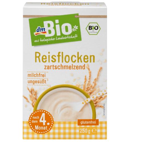 DM Bio Getreidebrei Reisflocken zartschmelzend nach dem 4. Monat, 250 g
