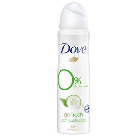 Dove Deo Spray Deodorant Go fresh Tee & Gurke, 150 ml