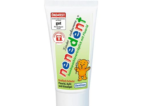 nenedent Zahnpasta (Zahncreme) mit Fluorid Kinder, 50 ml (homöopathievertr